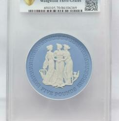 Ms70 2018 Wedgwood Three Graces Pcgs Andpound 5 Pottery Only 6 In The World Limited
