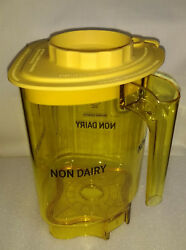 Vitamix Blending Station® Advance Container Jar Non-dairy Yellow With Lid New 48