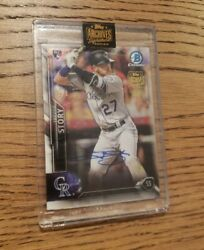 Topps Archives Signature Series Trevor Story Rookie 1 Of 1 Auto