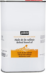 Pebeo 650104 1 Litre Refined Linseed Oil, Transparent