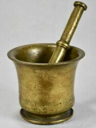 18th Century French Pharmacy Mortar And Pestle In Bell Metal
