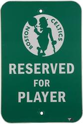 Boston Celtics Team-issued Green Player Parking Sign - Size - 18 X 12