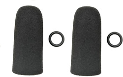 Two 2 Replacement Windscreens For David Clark And Crystal Mic Headsets