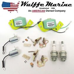 Tune-up Kit 2 Coils Spark Plugs J8c For Johnson Evinrude 3-40 Hp 172522 584477