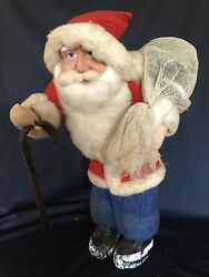 Rare 21andrdquo Early Paper Mache Santa Japan Store Display Largest One Youandrsquoll See