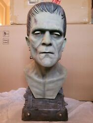 Sideshow 11 Scale Frankenstein Silver Scree Life Size Bust Statue Figure Sample