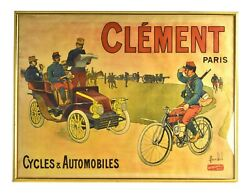 1900 L.c. Bombled Orig Lithographic Poster Clement Military Bicycles Automobiles