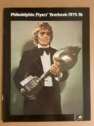 1975 76 Philadelphia Official Yearbook Flyers Bobby Clarke Stanley Cup Champions