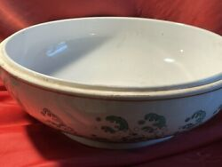Old Chinese Bowl 10 Inches Vintage Wave Motif Sold As Is