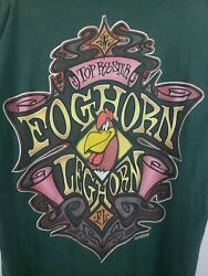 Foghorn Leghorn Shirt Top Rooster Green Vintage 1990s Usa Xl Giant Looney Tunes