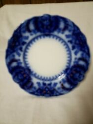 3 Flow Blue Johnson Brothers Florida Luncheon Plates 8 7/8 Nice Condition