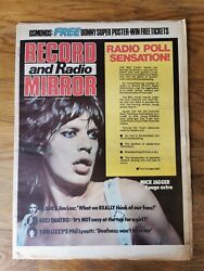 Record Mirror Dated September 29th 1973 Rolling Stones Cover Donny Osmond Poster