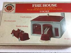 Plasticville O Scale Firehouse Empty Box Onl In Good Cond Lower 48 States Only