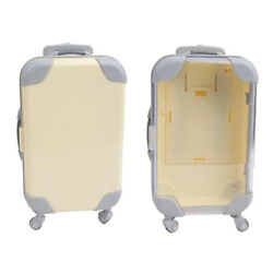 2x Lovely Plastic Doll Suitcase Travel Trunk For 18 Baby Doll Accessories