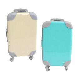 2x Fashion Mini Plastic Suitcase Travel Trunk Fits 18 Baby Doll Pretend Toy
