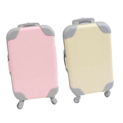 2x Doll Suitcase Luggage Case Simulation Trunk Fit For 43cm Baby Doll Gift