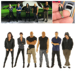 6 Pieces 164 Hand Painted Characters Mini Pvc People Building Railway Model