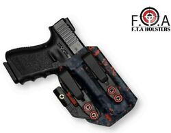 Ultra Body Hug Red Splash Camo Holsters Inside The Waistband With Claw Iwb