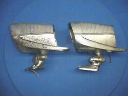 Vintage Accessory Nuvue Spotlights With Mirrors Pair