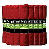 12 Pack Wholesale Soft Comfy Fleece Blankets - 60 X 50 Cozy Throw Blankets Red
