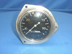 Vintage Stewart Speedometer 100 Mph Curved Glass Rear Mount Ct3-a
