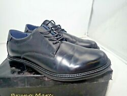 Bruno Marc Black Leather Downing 02 Men#x27;s Oxford Derby Dress Shoes Size 8.5 $19.80