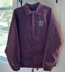 Jacket Off The Wall Classic Size Small Snap Front Nylon Coaches Burgand