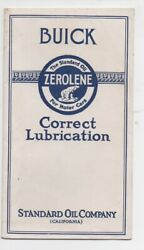 1920s Standard Oil Co Zerolene Buick Lubrication Brochure Cans And Barrels Shown