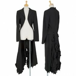 Comme Des Garcons Frill Tail Design Wool Jacket Size Mk-84955