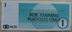 Great Britain 1970s National Cash Registers Training Purpose Only 1 Pound Note