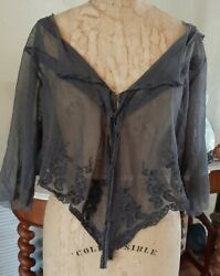 Magnolia Pearl Cotton Tulle Amorette Layering Blouse W/ Cotton Lace Insets Ozzy