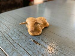 Putz Lounging Sheep Germany German Composition Antique Nativity Toy