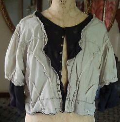 Rare 🙌 Magnolia Pearl Cotton Cleo Jacket/blouse W Silk And Tulle Undershirt