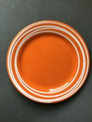 Set Of 14 Crate And Barrel Fall Orange With White Spiral Appetizer Party Plates