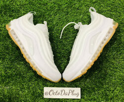 Nike Air Max 97 And039white Gumand039 Light Brown Sole Menand039s Size 9 New/no Lid Dj2740-100