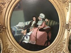 Interior Old Painting Antique Frame England