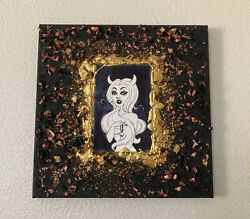 Succubus Painting By Hand - Andldquo Sheandrsquos Born From Rose Petals And Goldandrdquo