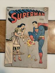 Superman 51 Ultra Rare Printed In Canada Variant .. 1948 Golden Age Comic