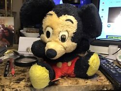 Vintage Mickey Mouse Stuffed Plush Doll