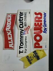 Vintage Political Bumper Stickers T. Tommy Cutrer, Powers + Alixander Unused Lot