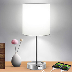 Table Lamp Touch Control Bedside Nightstand Daylight White Bulb Home Lighting