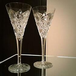 Lagny Extremely Rare Antique Baccarat Ragney Champagne Flute Cups