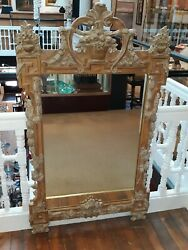 Large Carved Mirror Antique Italian Style