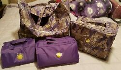 JOY MANGANO 4 PC TRAVEL BETTER BEAUTY COSMETIC CASES AND TOTE SET $28.95