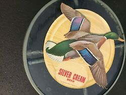 Silver Cream Beer Duck Wall Hanging Placard,breweriana Collectible