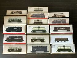 Lot Of 16 Southern Pacific N Scale Model Trains Canister Tank Piggyback Coal Etc