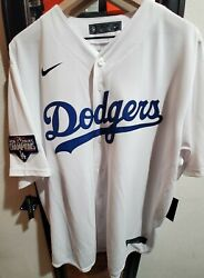 Nike Dodgers 2020 World Series Patch Jersey White T770-ldwh Mens Xxl