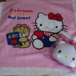Sanrio Vintage Kitty Retro Bath Towel Set Collection Goods From Japanese K8403