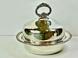 Fabulous Antique Silver Plated Serving Dish Dome Cover Hecworth England C 1940and039