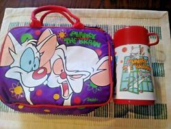 Rare  Pinky And The Brain Collectible Lunchbox With Thermos New Old Stock